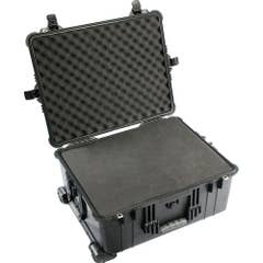 Pelican 1600 Case with Padded Dividers - Black