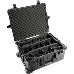Pelican 1610 Case with Padded Dividers - Black