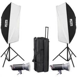 Metz Mecastudio TL600 SB / UM kit II Twin Head Top Line Studio Flash Kit  (MTZ9226020)