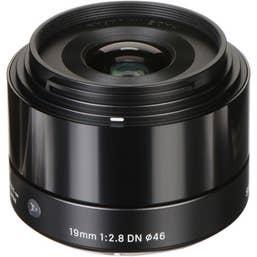 Sigma 19mm f/2.8 DN Black Art Lens for Micro Four Thirds