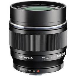 Olympus M.Zuiko Digital ED 75mm f/1.8 Lens (black)  -  V311040BG000