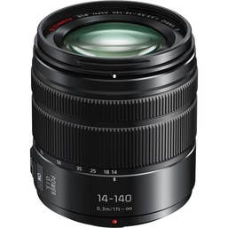 Panasonic LUMIX G VARIO 14-140mm f/3.5-5.6 ASPH. POWER O.I.S. Lens - Black (H-FS14140E-K)