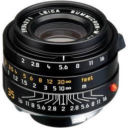 Leica Summicron-M 35mm F2 ASPH Lens - Black