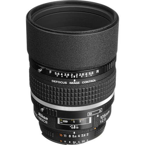 Nikon AF 105mm F/2D DC (Defocus Control) Lens  -  JAA327DA