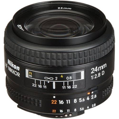 Nikon AF 24MM f/2.8D Lens    (JAA125DA)