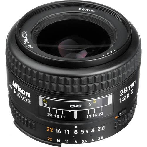 Nikon AF 28MM F/2.8D Lens  -  JAA128DA