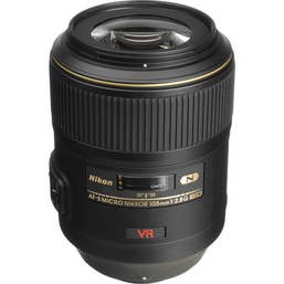 Nikon AF-S MICRO 105mm F/2.8G VR IF-ED Lens   -  JAA630DB