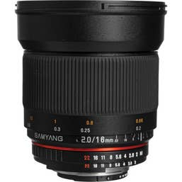 Samyang 16mm f/2.0 ED AS UMC CS Lens - Nikon   (200116)