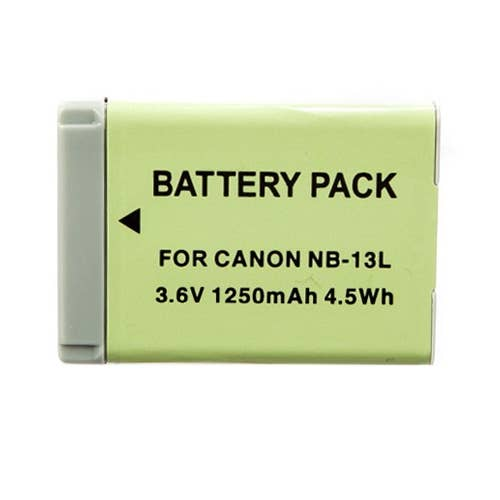INCA Battery Replacement Canon NB-13L Li-Ion 3.6v approx 1250mAh