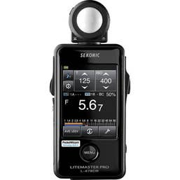 Sekonic LiteMaster Pro L-478DR Light Meter with Radio Transmitter for Pocketwizard