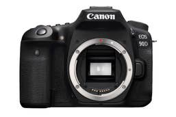 Canon EOS 90D Body featuring no-crop 4K UHD 25/30P movie recording, 45-point AF system and 10fps 32.5MP stills.