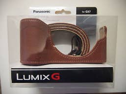 Panasonic DMW-CGK26 Lumix G Leather Body Case and Strap for GX 7 - Brown