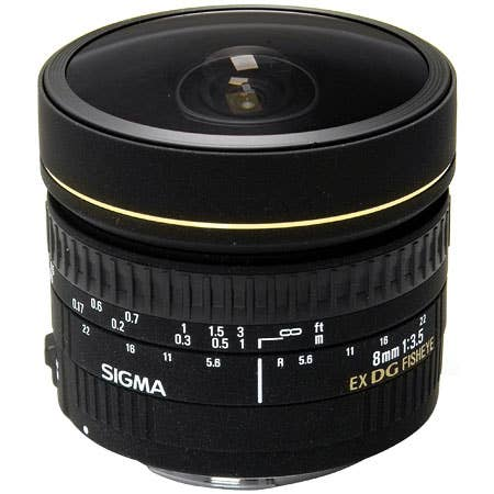Sigma 8mm f/3.5 Ex DG Fisheye Circular Lens for Canon