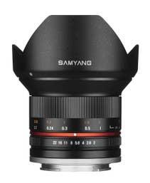 Samyang 12mm f/2.0 NCS CS Lens for Fujifilm X-Mount - Black