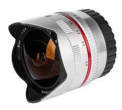 Samyang 8mm f/2.8 UMC II Fisheye Lens - Fujifilm X Mount (Silver)