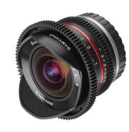 Samyang 8mm T3.1 CINE APS-C Lens for Fuji X Mount