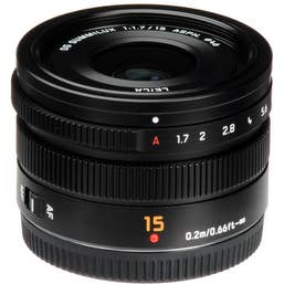 Panasonic LUMIX G - Leica DG Summilux 15mm f/1.7 lens - Black   (H-X015E-K)