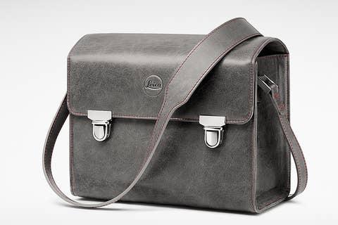 Leica 18761 Leather System Bag - Stone Grey