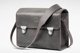 Leica 18761 Leather System Bag - Stone Grey