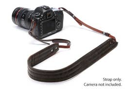 ONA  PRESIDIO Camera Strap - Dark Truffle (Italian leather)   ONA023LDB