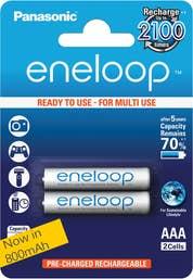 Panasonic eneloop  2 x 800 mAh batteries AAA size