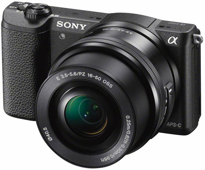 Sony Alpha a5100 Mirrorless Digital Camera with 16-50mm Lens (Black)