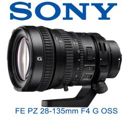 Sony FE PZ 28-135mm F4 G OSS full-frame power zoom lens