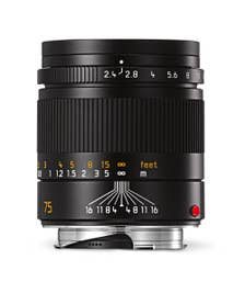 Leica Summarit-M 75mm F2.4 Black Lens