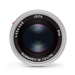 Leica Summarit-M 75mm F2.4 Silver Lens