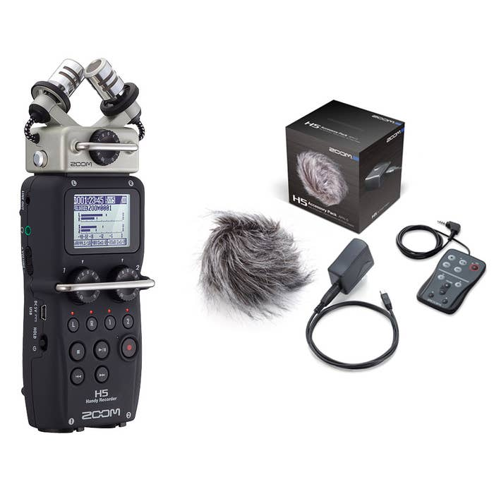 Zoom H5 Handy Recorder with Interchangeable Microphone System and APH-5 H5 Accessory Pack