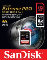 SANDISK EXTREME PRO SDXC 512GB Class 10 95MB/s  (SDSDXPA-512G-G4)