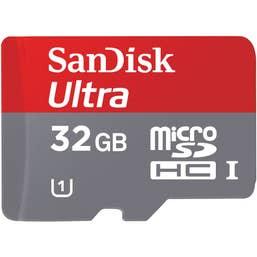 SanDisk 32GB Ultra microSDHC UHS-I A1 Memory Card