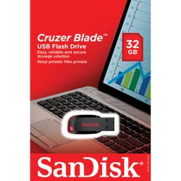 SanDisk Cruzer® BLADE USB 2.0 Flash Drive 32GB