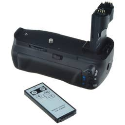 Jupio Battery Grip for Canon EOS 70D incl. remote & AA cylinder