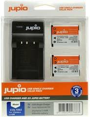 Jupio Olympus Li-42 Twin Battery  plus Charger Kit