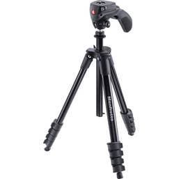 Manfrotto Compact Action Tripod - Black  -  MKCOMPACTACN-BK