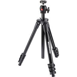 Manfrotto Compact Light Tripod - Black  -  MKCOMPACTLT-BK