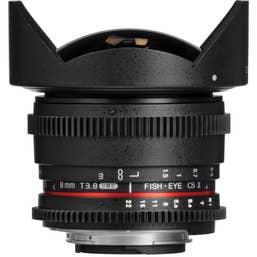 SAMYANG 8mm fisheye T3.8 VDSLR II Nikon APS-C
