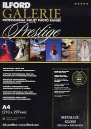 Ilford Galerie Metallic Gloss 260GSM - A4 25pk