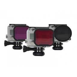 PolarPro for Gopro Hero3+ / Hero4 Filter 3-Pack: Underwater (Red / Magenta  Polariser Filters)  P1016