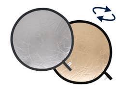 Lastolite Collapsible Reflector 75cm Sunfire / Silver