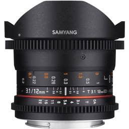 Samyang 12mm T3.1 VDSLR II - Canon EOS Full Frame