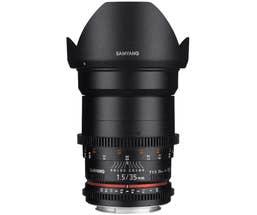 Samyang 35mm T1.5 VDSLR II Canon E0S Full Frame (400024)