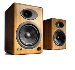 Audioengine A5+Powered Bookshelf Speakers - Solid Bamboo