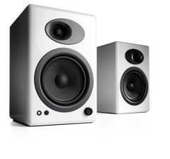 Audioengine A5+Powered Bookshelf Speakers - Hi-Gloss White