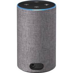 Amazon Echo with Alexa (2nd Generation) [Heather Grey Fabric]