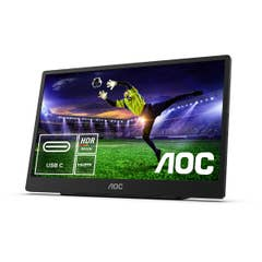 """AOC 16T2 15.6"""" FHD 10-Point Touch IPS Portable USB-C Powered Monitor"""