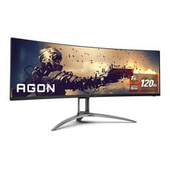 "AOC AGON AG493UCX 49"" 5K 120Hz UWQHD FreeSync Premium Pro HDR Curved Gaming Monitor"