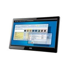 """AOC E1659FWU 15.6"""" HD Portable USB LED TN Monitor"""