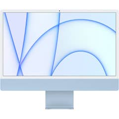 Apple iMac 24-inch M1 Chip, 8C CPU,8C GPU,8GB,256GB,Magic Keyboard, Blue - MGPK3X/A